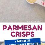 1 Minute Microwave Homemade Parmesan Crisps - Health Beet