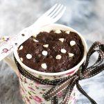 2 Mins Eggless Microwave Chocolate Mug Cake | Tickling Palates