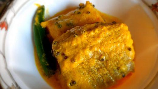 Sorshe Bhapa Salmon (Steamed Salmon in Mustard Sauce)-Microwave Recipe