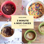 Eggless 3 minute 4 Mug Cakes - food-trails