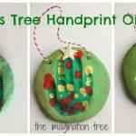 Salt Dough Handprint Christmas Tree Ornaments - The Imagination Tree