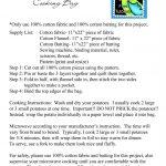 MICROWAVE POTATO BAG PATTERN - FREE PATTERNS | Microwave potato bag, Potato  bag, Potatoes in microwave