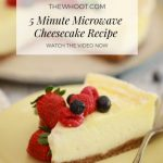 5 Minute Microwave Cheesecake Recipe   The WHOot