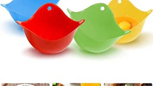 4Pcs Egg Poacher For Microwave BPA Free Egg Poacher Pan Dishwasher Safe Egg  Cookware Stovetop Mini Silicone Egg Poaching Cups Egg Cooker Egg Poacher  Poaching Pods Sartenes para escalfar huevos Menaje de