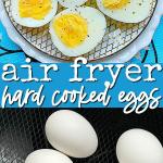 Air Fryer Eggs | Foodtastic Mom #airfryereggs #hardcookedeggs  #hardboiledeggs #airfryerrecipes v… | Hard cooked eggs, Breakfast recipes  easy, Air fryer recipes easy