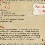 fancy fudge   Fantasy Fudge Recipe Card   The Life of Rileys   Fantasy  fudge recipe, Fudge recipes, Fantasy fudge