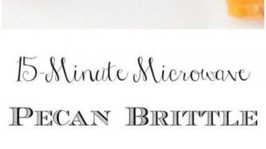 15-Minute Microwave Pecan Brittle | Recipe | Brittle recipes, Pecan recipes,  Recipes