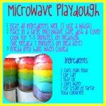 Microwave Playdough   Playdough recipe, Playdough, Kids playing