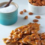 Almond Brittle made in the Microwave - Dessert for Two