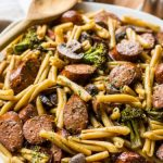 Balsamic Pasta with Chicken Sausage, Broccoli and Mushrooms   The Beach  House Kitchen
