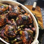 Balsamic-Red Wine Roasted Chicken Thighs and Vegetables - Host The Toast