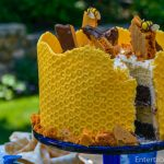 Honeycomb Cake with Sponge Toffee Garnish | Entertablement