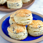 Blueberry Coconut Cream Scones - Two of a Kind