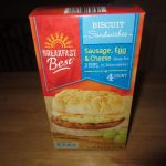 Breakfast Best Sausage Egg and Cheese Biscuit Sandwiches | ALDI REVIEWER
