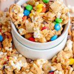 Caramel Chex Mix - Cookie Dough and Oven Mitt
