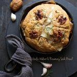 Cheesy Garlic, Walnut & Rosemary Soda Bread ... quick breads that spell  comfort -