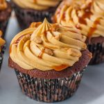 Chocolate Toffee Cupcakes with Caramel Frosting (video) - Tatyanas Everyday  Food