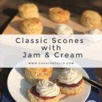 Classic Jam & Cream Scones - Baking without Eggs - Casa Costello %
