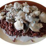 Creamy Chicken, Mushrooms and Black Rice ~ Grow Create Save