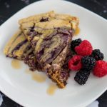Oven-Baked Peanut Butter & Berry Compote Oatmeal Pancake - Kissed By Spice