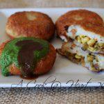 A Cook @ Heart: Aloo Tikki Chaat (Stuffed Potato Shells)