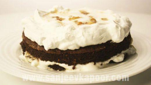 How to make Dark Chocolate And Banana Cake, recipe by MasterChef Sanjeev  Kapoor