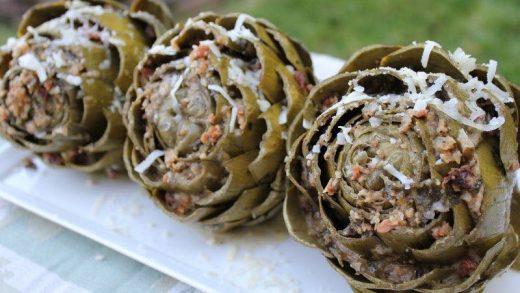 Dutch oven Stuffed Artichokes Recipe