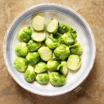 Easy Microwave Brussels Sprouts - a beautiful healthy side dish in 10 min.