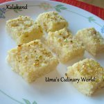 Microwave Ricotta Cheese Kalakand