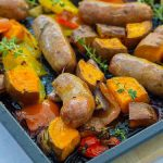 Easy Sausage and Sweet Potato Traybake - Easy Peasy Foodie