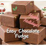 Quick and Easy Chocolate Fudge Recipe - Falafel Recipe