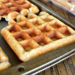 How to freeze homemade waffles
