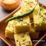 Dhokla in microwave - TheTasteMania This is breakfast snacks.