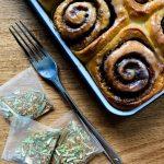 Chai spice cinnamon rolls with vegan chai icing - Gitanjali Roche