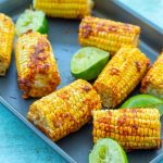 Easy Roasted Mexican Corn on the Cob (Vegan) - Easy Peasy Foodie