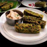 Sahaja Siri: Kothimbir Vadi in Microwave oven/ Quick coriander vadi recipe/  Kothambari soppu vade