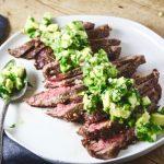Steak with Spicy Cucumber Salsa