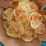 Crispy Microwave Potato Chips - Gemma's Bigger Bolder Baking