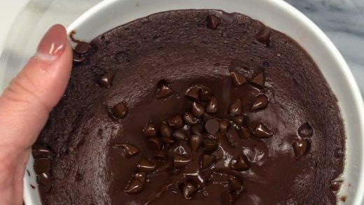 Protein Molten Lava Mug Cake - Lauren Fit Foodie