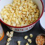Homemade Butter Flavored Coconut Oil Popcorn | Golden Barrel