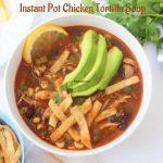 Best Instant Pot Chicken Tortilla Soup Recipe - In 25 Mins - Prepbowls