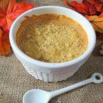 Mascarpone Pumpkin Cheesecake in the Microwave #SundaySupper - PB + P Design