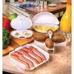 Specialty Cookware Microwave Bacon and Meat Grill Plate Bacon Cooker Rack  and Microwave Egg Poacher with 2 Cavity Compact Egg Maker Poached Egg  Steamer Kitchen Gadget Kitchen & Dining angadiworldtech.com