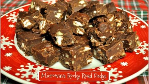 Microwave Rocky Road Fudge / The Grateful Girl Cooks!