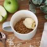 Microwave Apple Crumble in a Mug in just 3 Minutes!