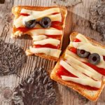Easy Mummy Pizza Sandwich for Halloween Lunchboxes - Nerdy Mamma