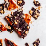 Easy Microwave Peanut Brittle with Chocolate - Munchkin Time