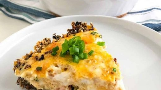Mushroom Crust Quiche with Ham – Amy's Delicious Mess