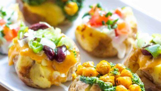 Mini-Loaded Baked Potatoes: Vegan, Gluten-Free