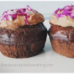 Edible Flower Chocolate Cupcakes (Eggless) - A Cupful Of Everything